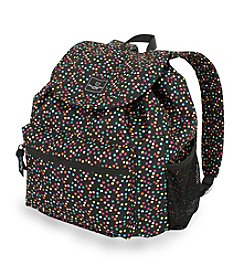 French West Indies Spiral Dot Confetti Print Backpack