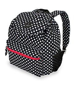 French West Indies Black Large Polka Dot Print Backpack