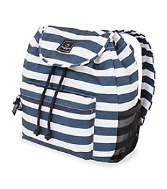 French West Indies Blue and White Wide Stripe Backpack
