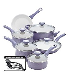 Farberware® New Traditions 14-pc. Lavender Speckled Aluminum Nonstick Cookware Set