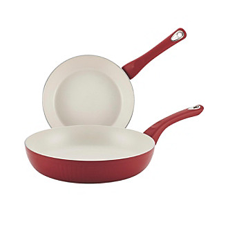 traditions red aluminum nonstick twin