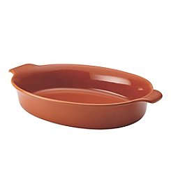 Anolon® Vesta Stoneware 3-qt. Persimmon Orange Oval Au Gratin