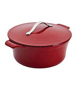 Anolon® Vesta Cast Iron Cookware 5-qt. Round Paprika Red Covered Casserole