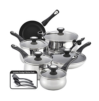 Farberware® New Traditions 14-pc. Stainless Steel Cookware Set + $20 Cash Back