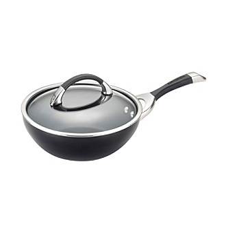 "Circulon® Symmetry 9.5"" Black Hard-Anodized Nonstick Cov"