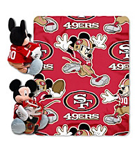 San Francisco 49ers Disney™ Mickey Hugger Throw