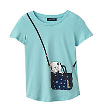 Grane® Girls' 7-16 High-Low Tee with Purse