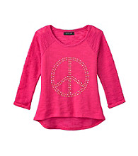 Grane® Girls' 7-16 3/4 Sleeve French Terry Top