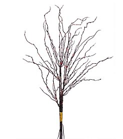 Vickerman LED Orange Lights on Black Twigs