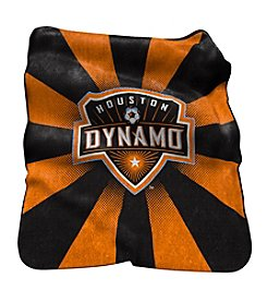 MLS Houston Dynamo Logo Chair Raschel Throw