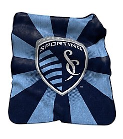 MLS Sporting Kansas City Logo Chair Raschel Throw