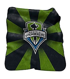 MLS Seattle Sounders Logo Chair Raschel Throw