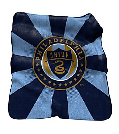 MLS Philadelphia Union Logo Chair Raschel Throw