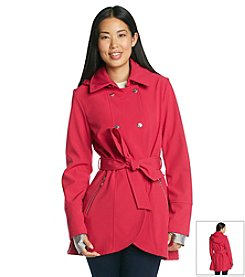 Betsey Johnson® Double Breasted Softshell Jacket