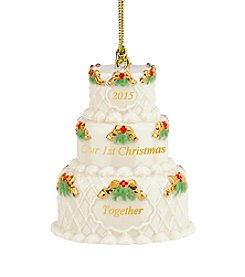 Lenox® 2015 Our First Christmas Together Cake Ornament