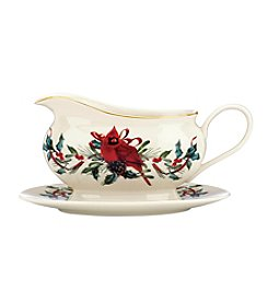 Lenox® Winter Greetings Gravy Boat And Stand Set