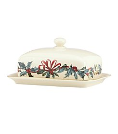 Lenox® Winter Greetings Covered Butter Dish
