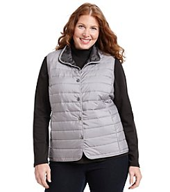 Relativity® Plus Size Snap Front Vest