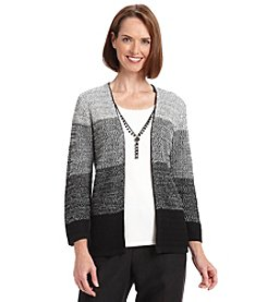 Alfred Dunner® Manhattan Skyline Layered Look Sweater