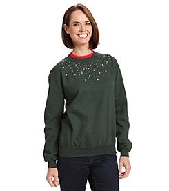 Morning Sun Holiday Jeweled Sweatshirt