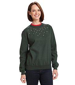 Morning Sun Holiday Jeweled Sweatshirt