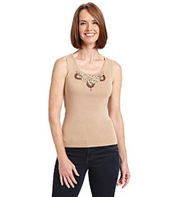 Ruby Rd.® On The Prowl Embellished Knit Sleeveless Top