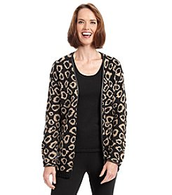 Ruby Rd.® On The Prowl Boucle Jacquard Cardigan