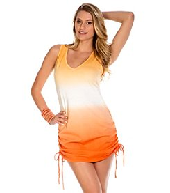 ECO SWIM® by Aqua Green® Shirred Side Ombre Cover Up Dress