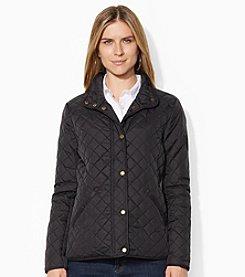 Lauren Ralph Lauren® Quilted Faux Suede Trim Jacket