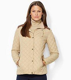Lauren Ralph Lauren® Quilted Faux Leather Trim Barn Jacket