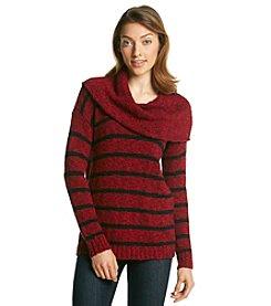 Kensie® Stripe Cowl Neck Sweater