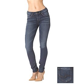 Silver Jeans Co. Aiko Soft Touch High Rise Knit Denim Skinny Jogger