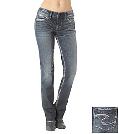 Silver Jeans Co. Suki Mid Rise Slim Straight Leg Jeans