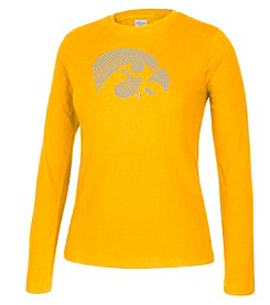 J America® Women's University of Iowa Crew Neck Long Sleeve Tee
