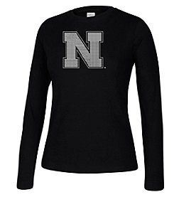 J. America® Women's University of Nebraska Crew Neck Long Sleeve Tee