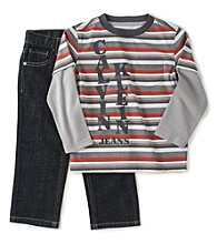 Calvin Klein Jeans® Boys' 4-7 Layered Tee and Jeans Set