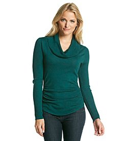 Love Always Solid Cowlneck With Rib Trim
