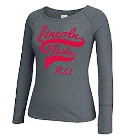 J. America® Women's University of Nebraska Twisted Slub Long Sleeve Tee