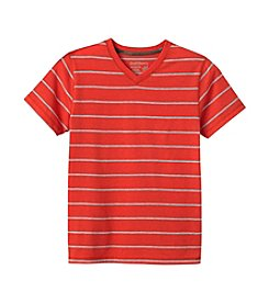 Ruff Hewn Boys 8-18 Short Sleeve Striped V-Neck Tee