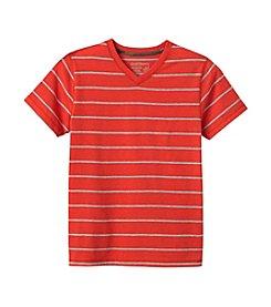 Ruff Hewn Boys 8-18 Short Sleeve Striped V-Neck Tee