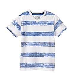 Ruff Hewn Boys 8-18 Short Sleeve Reverse Striped V-Neck Tee
