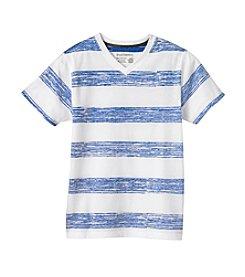 Ruff Hewn Boys 8-18 Short Sleeve Reverse Striped V-Neck Tee