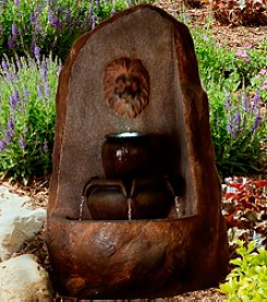 Pure Garden LED Lighted Outdoor Rock Fountain with Pump