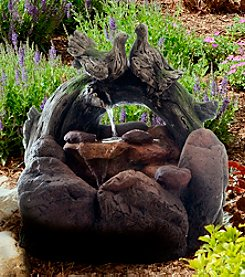 Pure Garden LED Lighted Double Dove Outdoor Rock Fountain with Pump
