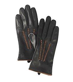 Lauren Ralph Lauren Contrast Whip Points Gloves