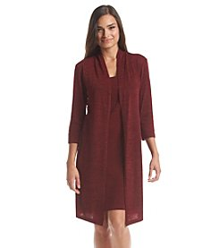 Connected® Petites' Elbow Sleeve Mock Jacket Dress