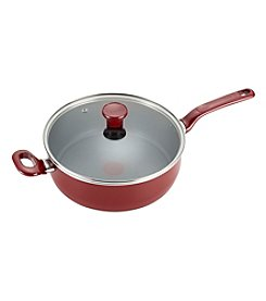 T-fal® Excite 4.5-qt. Red Covered Deep Saute Pan
