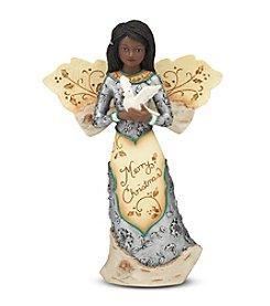 Pavilion Gift Company® Ebony Angel Holding Dove Figurine