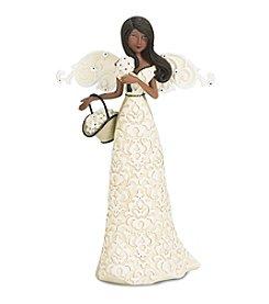 Pavilion Gift Company® Ebony Angel Holding Basket Figurine