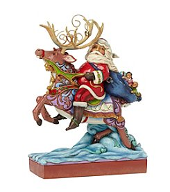 Heartwood Creek® by Jim Shore Santa Riding Reindeer Figurine
